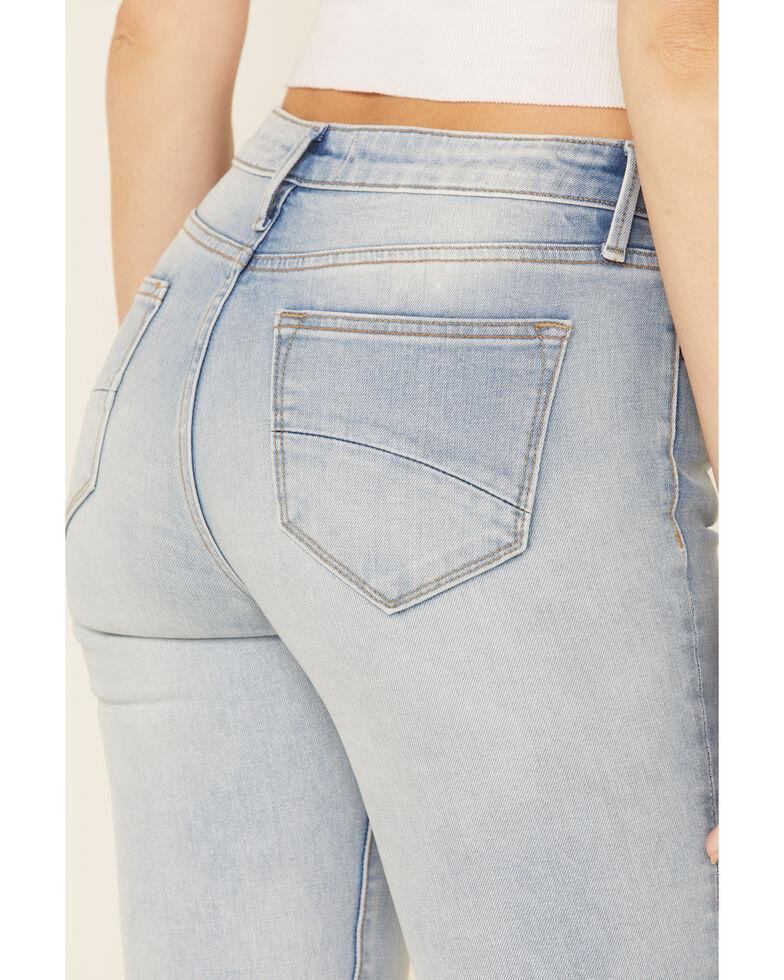Driftwood Women's Farrah Patchwork Flare Leg Jeans, Blue, hi-res