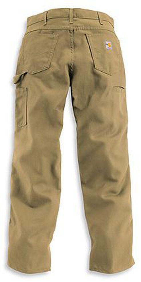 Carhartt Flame Resistant Canvas Work Pants - Big & Tall, Khaki, hi-res