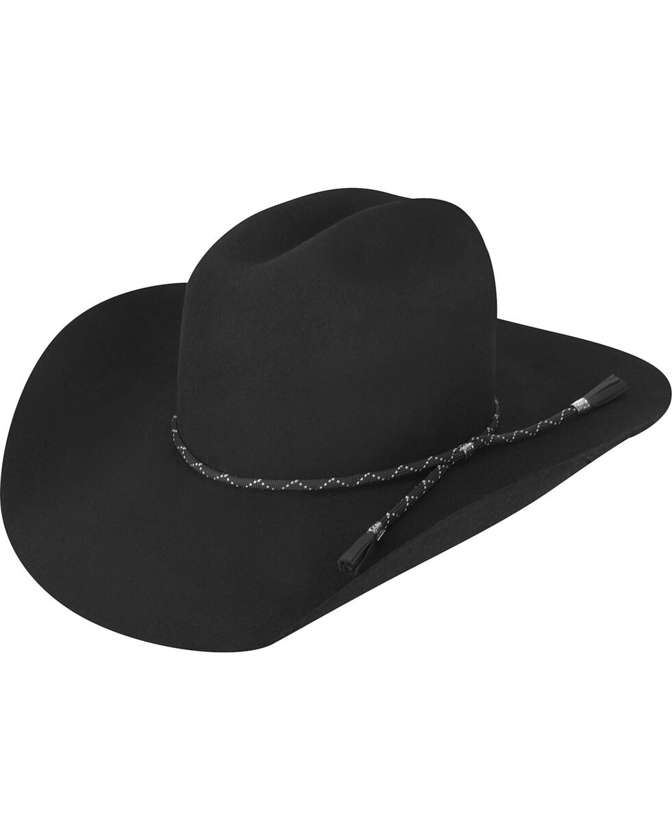Bailey Men's Black Zippo 2X Wool Felt Cowboy Hat, Black, hi-res