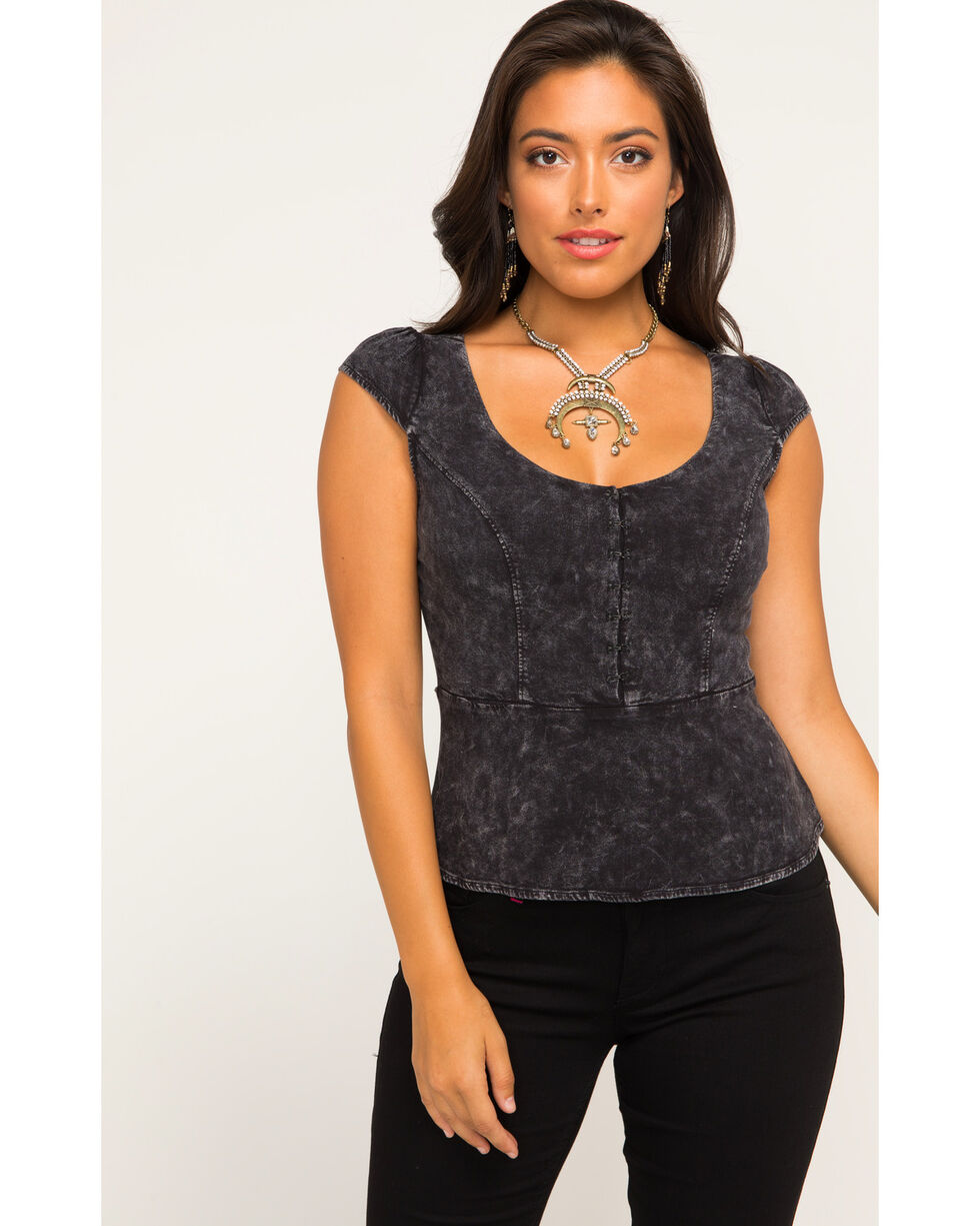 Idyllwind Women's Heartbreaker Corset Top, Black, hi-res
