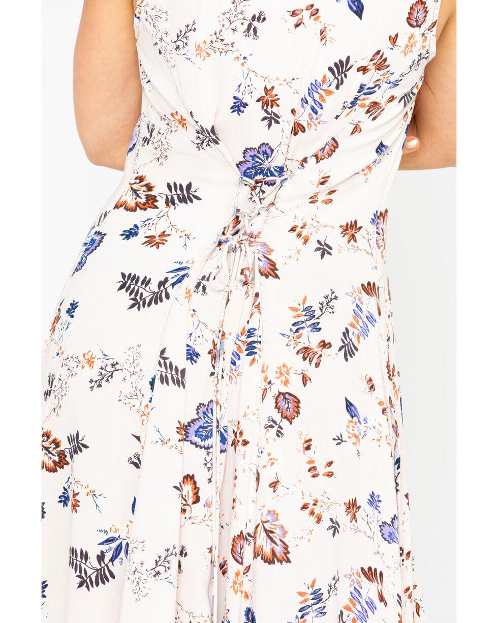 Nostalgia Women's Floral Print Denim Button Front Kimono , Blue, hi-res