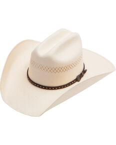 Cody James Men's Vented Straw Cowboy Hat, Natural, hi-res