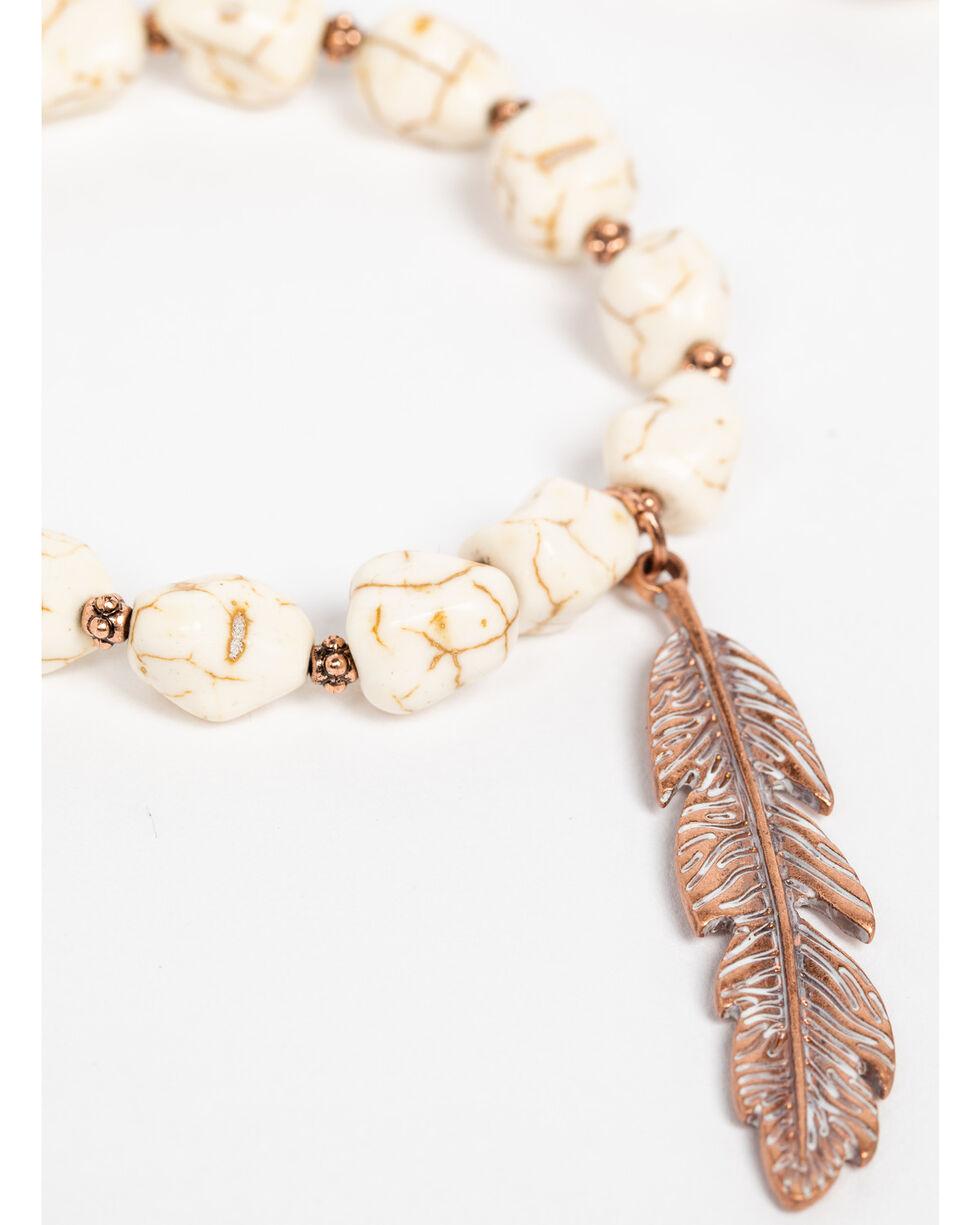 Shyanne Women's Wanderlust Ivory Beaded 3 Pack Bracelet Set, Tan/copper, hi-res