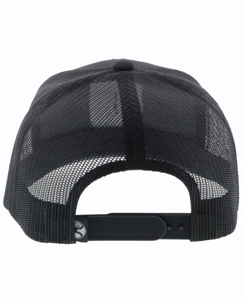 HOOey Men's Black Bronx Shield Patch Mesh Ball Cap , Black, hi-res