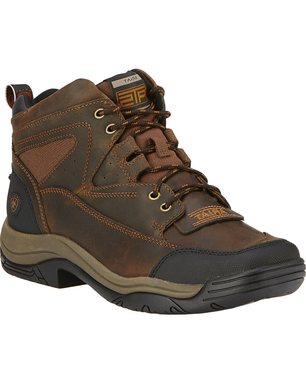 Ariat Men's Terrain Boots - Wide Square Toe, Brown, hi-res