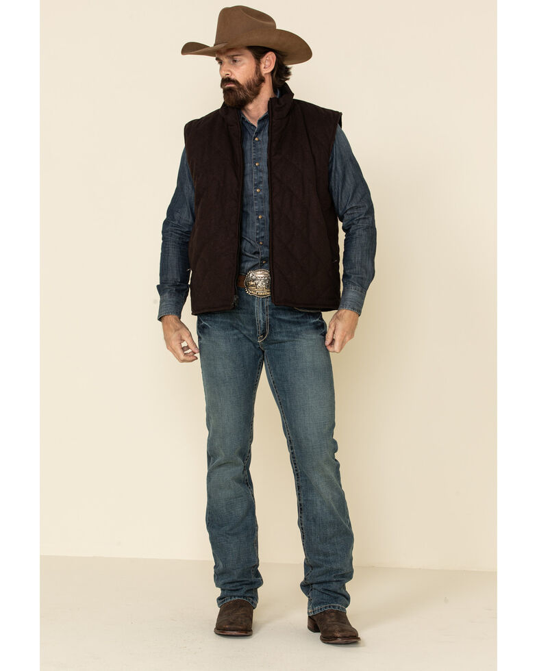 Resistol Men's Black Matthew Reversible Vest , Black, hi-res