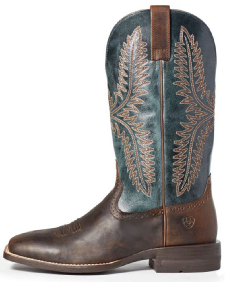 Ariat Men's Caprock Western Boots - Square Toe, Brown, hi-res