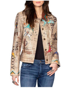 Double D Ranch Women's Navajo Accounting Jacket , Tan, hi-res