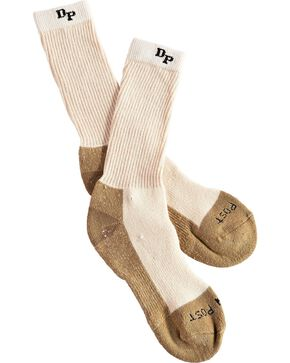Dan Post Men's Medium Weight Work & Outdoor Steel Toe Performance Socks, Natural, hi-res