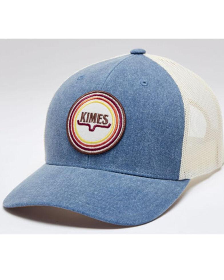 Kimes Ranch Men's Blue Super Sonic Logo Patch Mesh-Back Ball Cap, Blue, hi-res