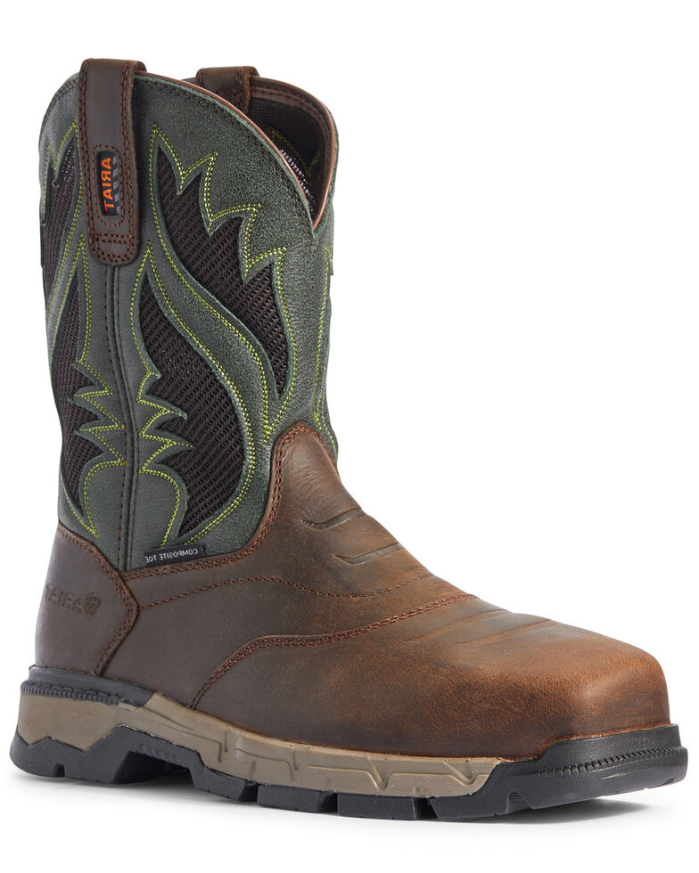 Ariat Men's Rebar Flex VentTEK Western Work Boots - Composite Toe, Brown, hi-res