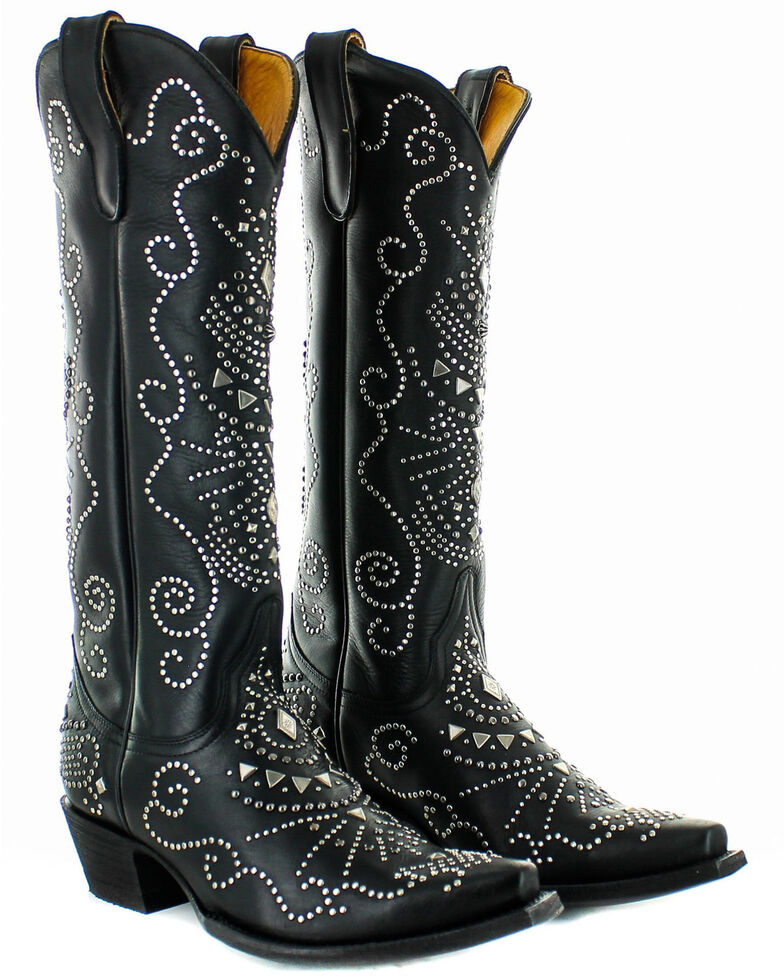 Old Gringo Women's Alyssa Western Boots - Snip Toe, Black, hi-res