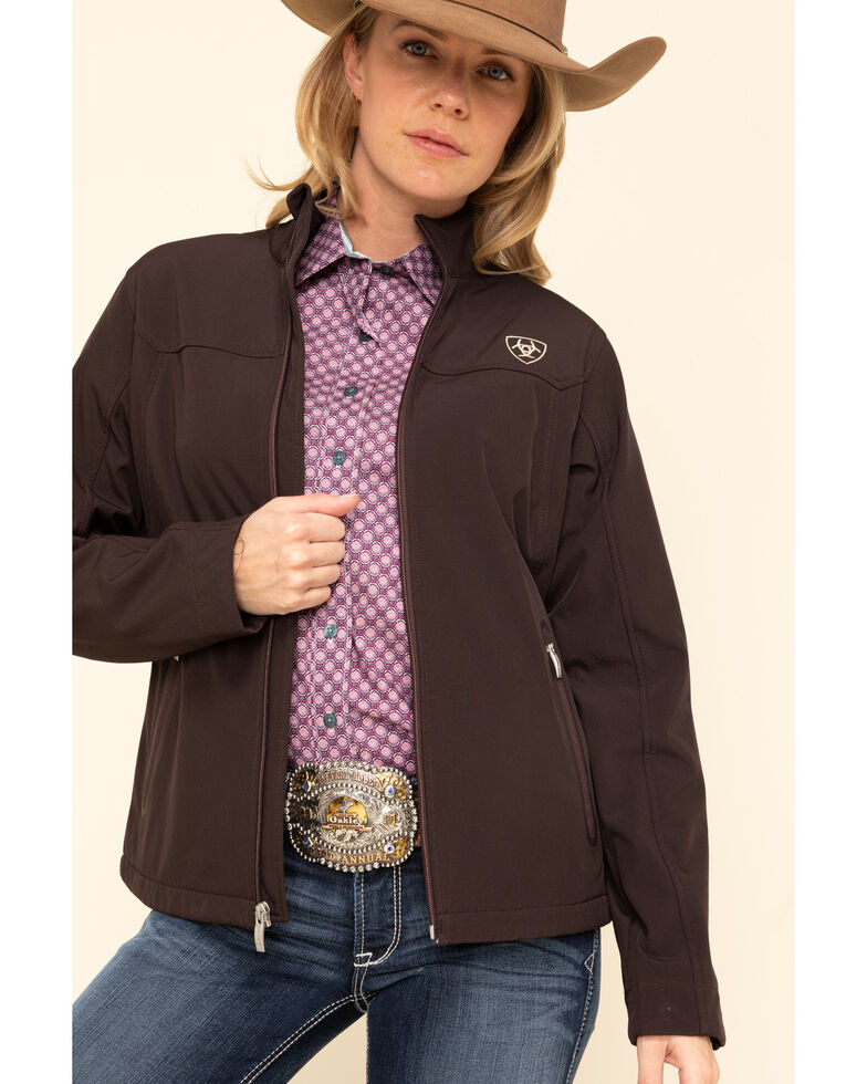 Ariat Women's Coffee Bean & Leopard New Team Softshell Jacket, , hi-res