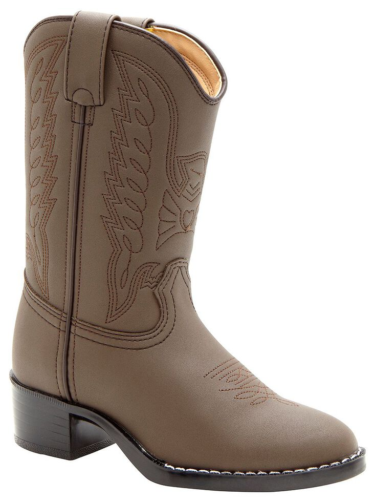 Durango Youth Brown Cowboy Boots - Round Toe, Brown, hi-res