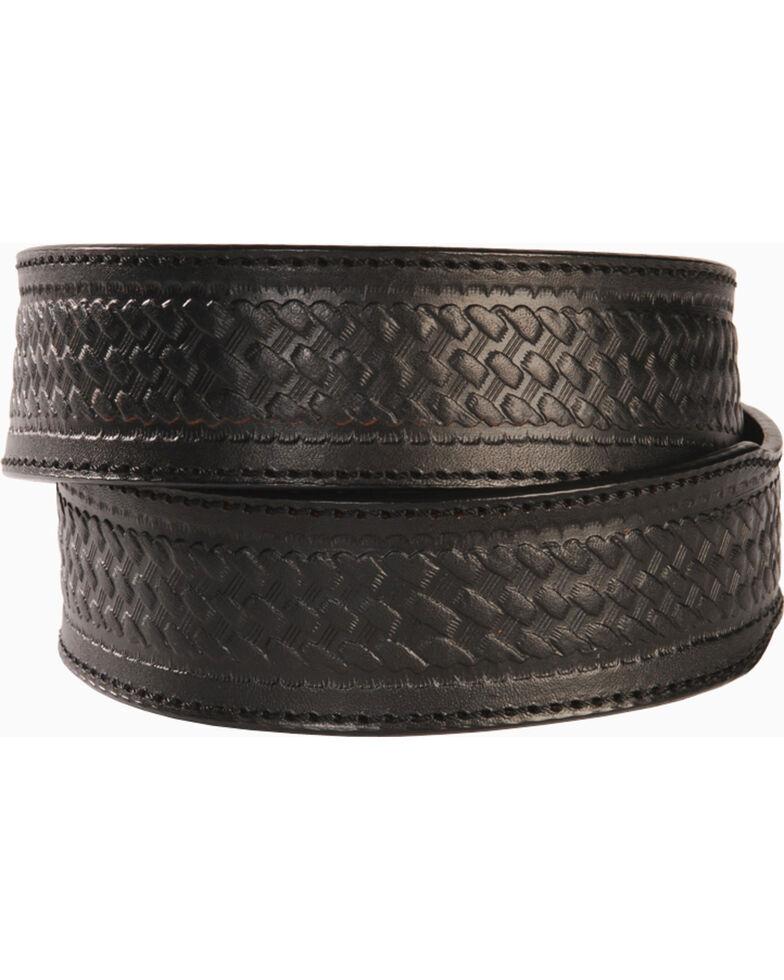 Men's Basketweave Belt - Reg & Big, Black, hi-res
