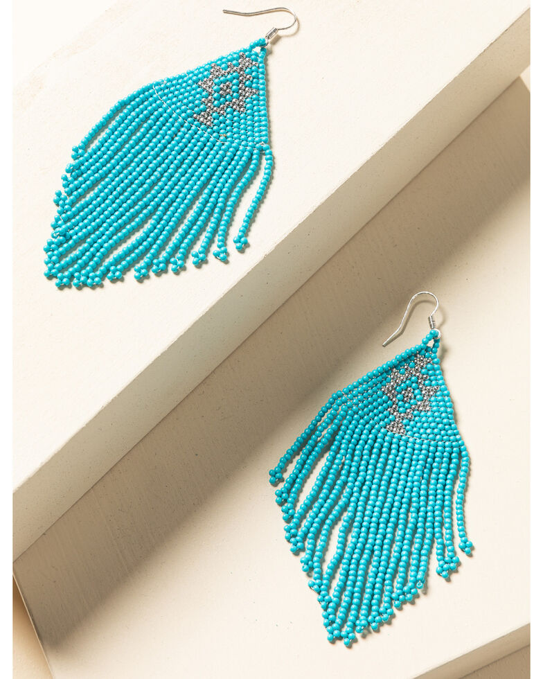 Idyllwind Women's Beaded You To It Turquoise Earrings, Turquoise, hi-res