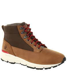 Rocky Men's Rugged Waterproof Outdoor Boots - Soft Toe, Brown, hi-res