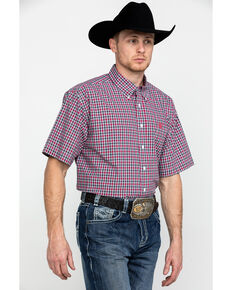 Cinch Men's Multi Large Plaid Button Short Sleeve Western Shirt - Big & Tall , Multi, hi-res