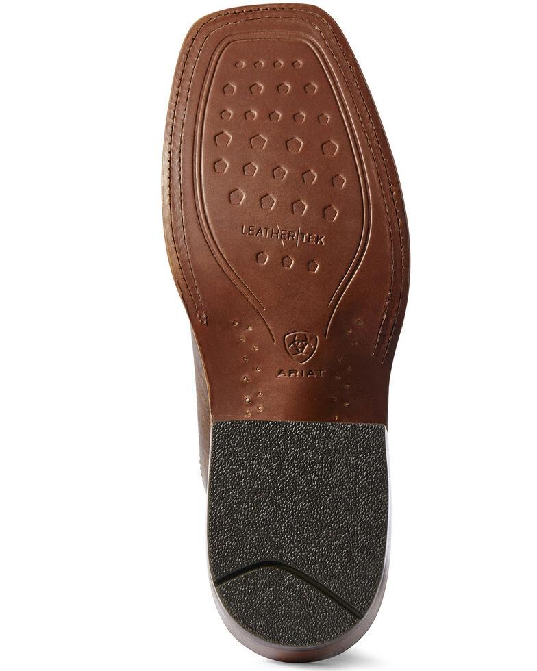 Ariat Men's Ringer Alabaster Western Boots - Wide Square Toe, Brown, hi-res