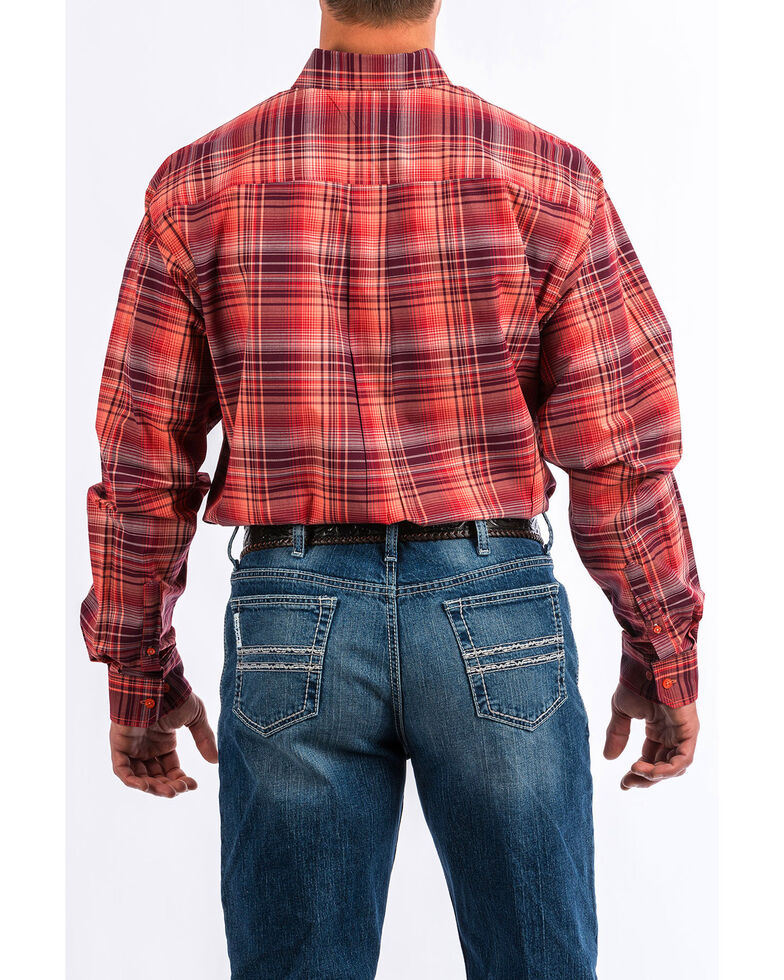 Cinch Men's Multi Med Plaid Button Long Sleeve Western Shirt , Multi, hi-res