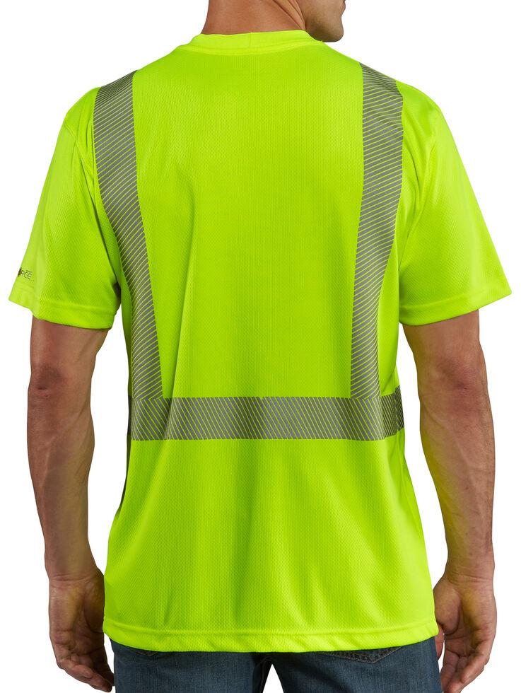 Carhartt Force High-Viz Short Sleeve Class 2 T-Shirt, Lime, hi-res