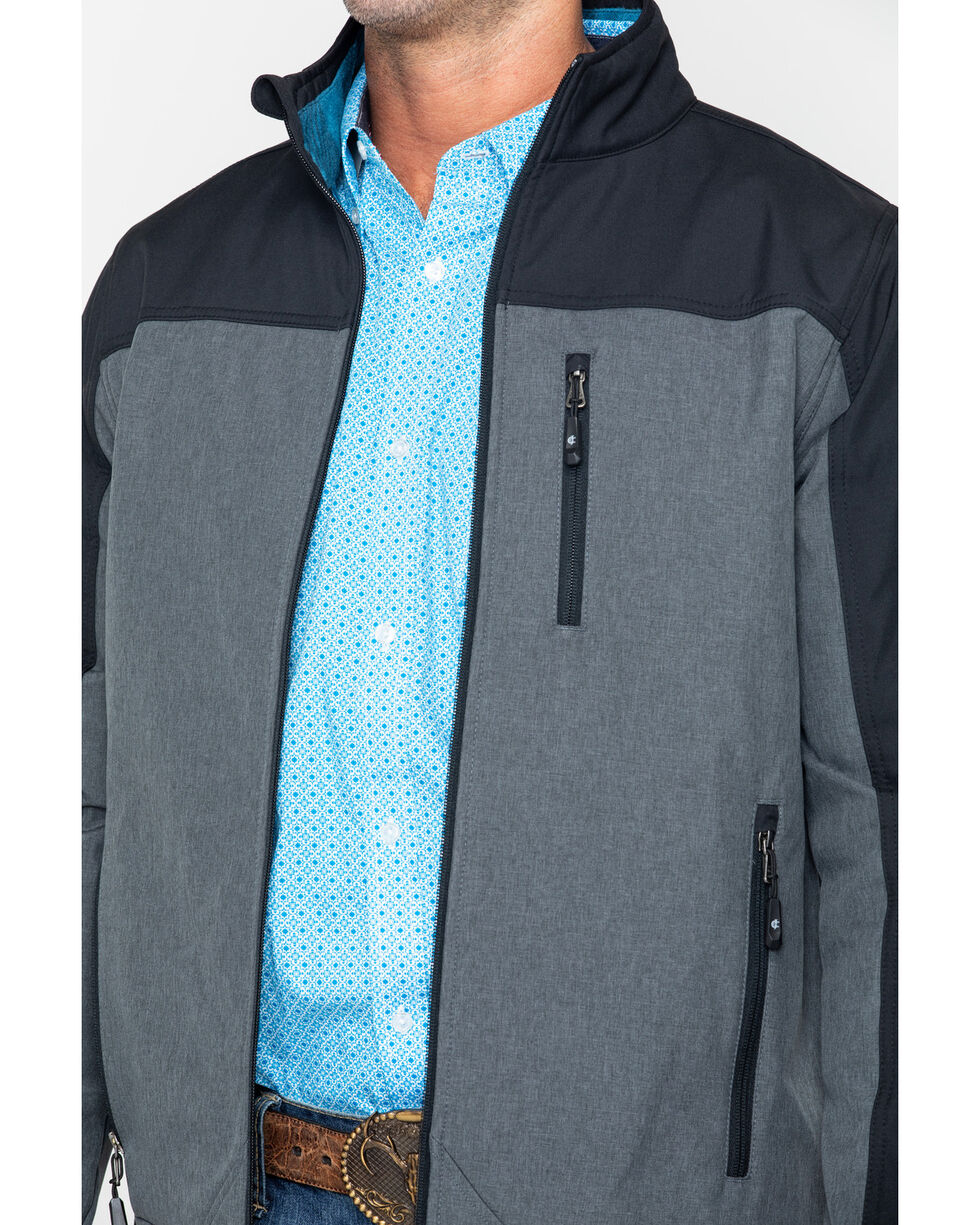 Cody Core Men's Poly Zip-Up Steamboat Soft Shell Jacket , Black, hi-res
