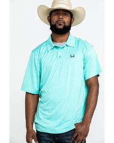 Cinch Men's Heathered Short Sleeve Polo Shirt , Brown, hi-res