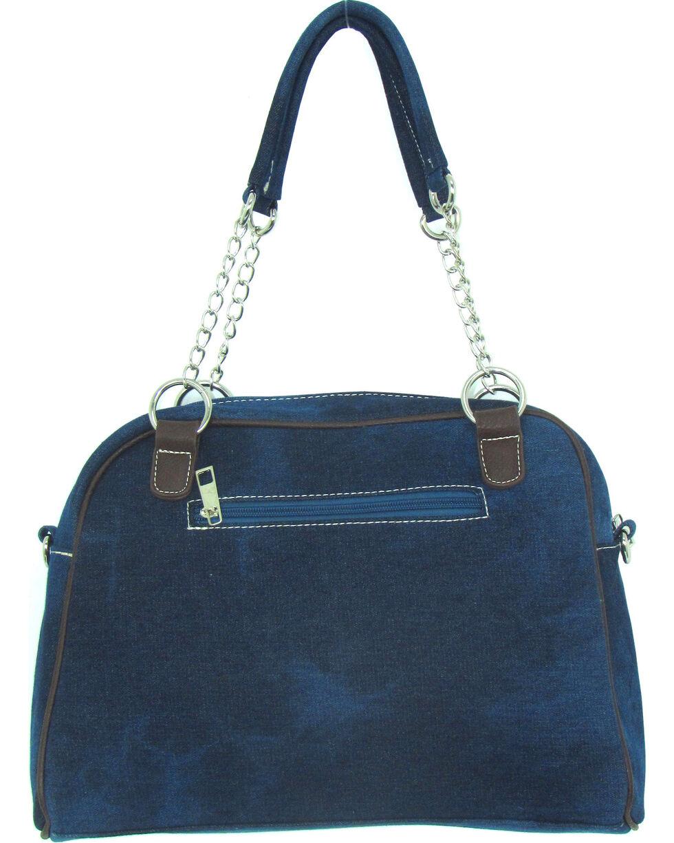 Savana Women's Rhinestone & Stud Denim Handbag, Blue, hi-res