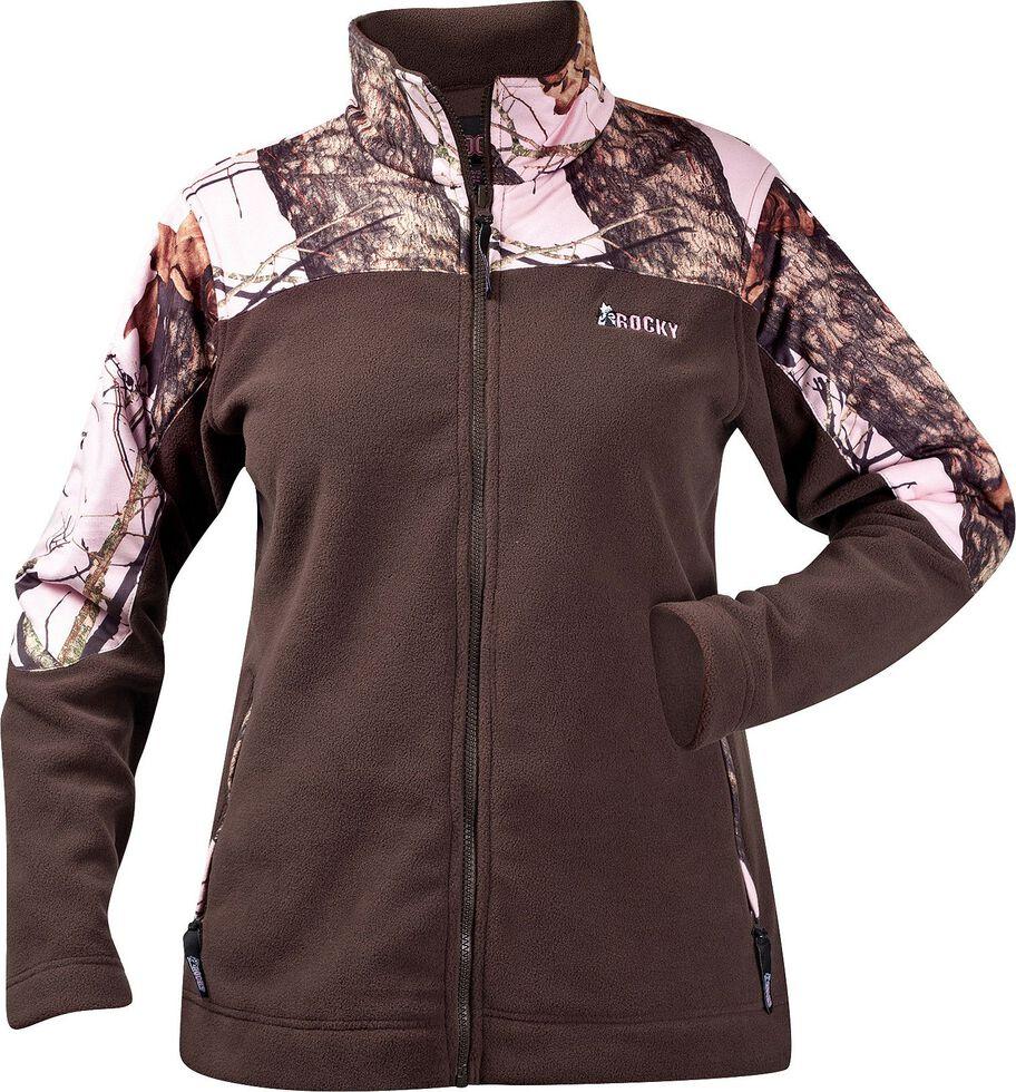 Rocky Women's Realtree Camo Fleece Jacket, Brown, hi-res