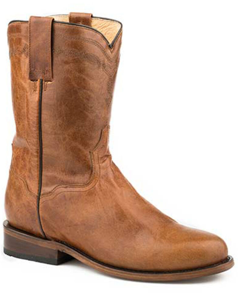 Roper Men's Ozzie Western Boots - Round Toe, Brown, hi-res