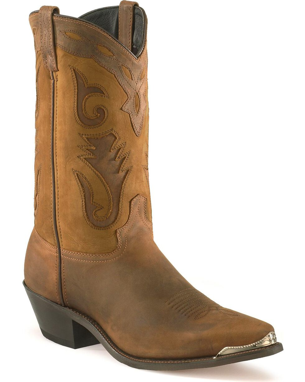 Sage by Abilene Men's Distressed Western Boots - Pointed Toe, Brown, hi-res