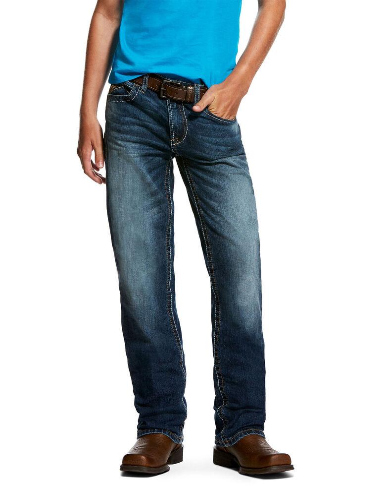 Ariat Boys' B5 Caden Stretch Slim Straight Jeans , Blue, hi-res