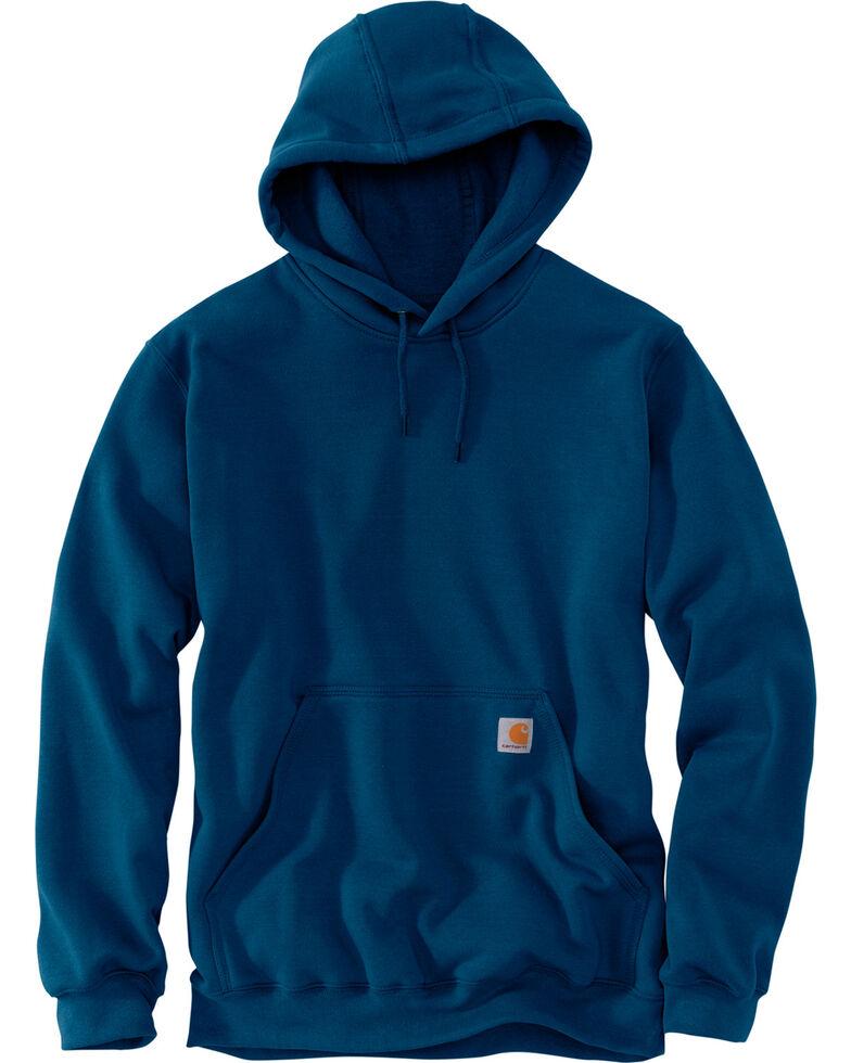 Carhartt Midweight Hooded Pullover Sweatshirt, Medium Blue, hi-res
