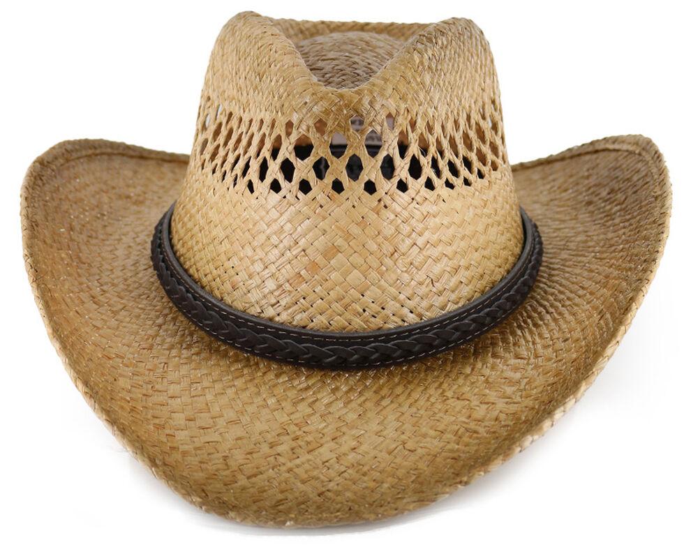 Cody James Burnt Tan Straw Hat, Multi, hi-res