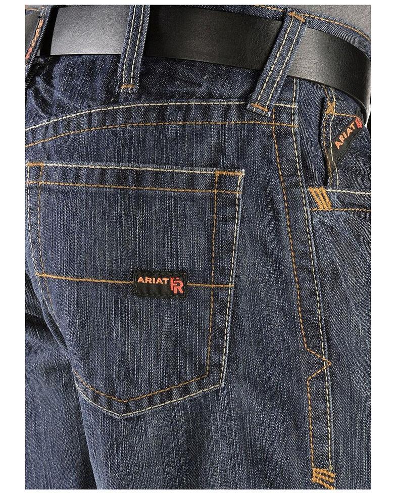 Ariat Men's Flame Resistant Loose Fit Shale Work Jeans - Big, Indigo, hi-res