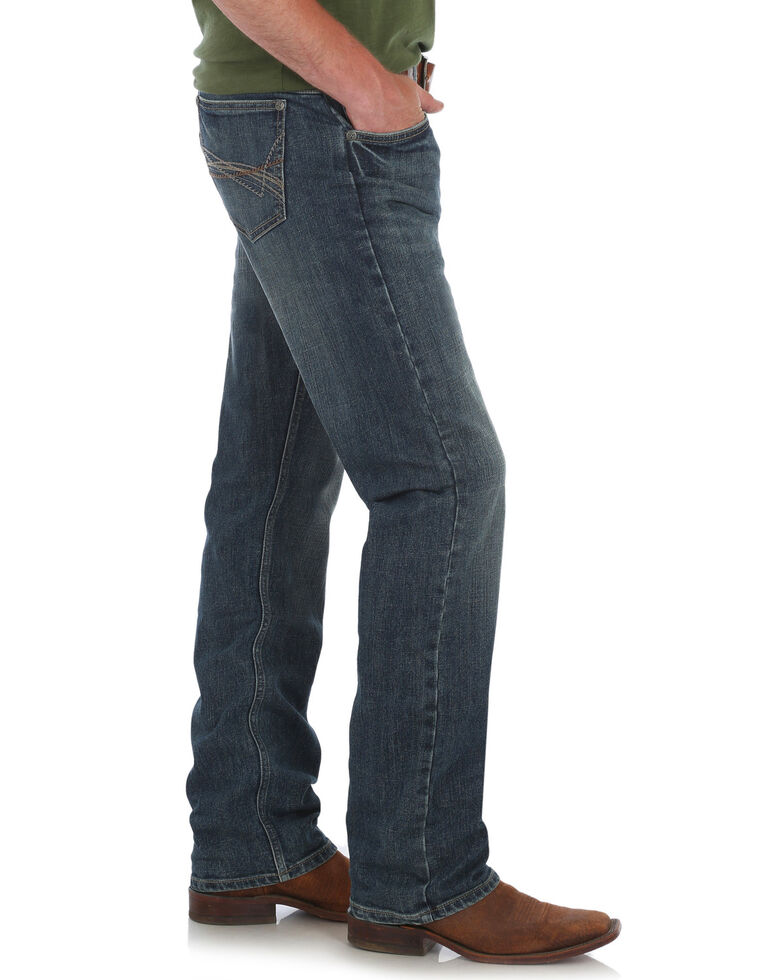 Wrangler 20X Men's No. 44 Slim Fit Straight Leg Jeans - Long, Blue, hi-res
