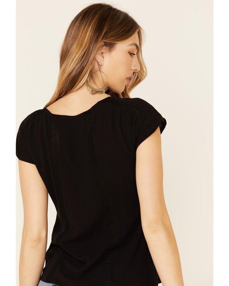 Idyllwind Women's Dawn Button Front Top, Black, hi-res