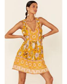 Band of Gypsies Women's Mustard Bessie Dress, Mustard, hi-res