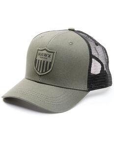 Hawx Men's Olive Shield Logo Patch Mesh-Back Ball Cap , Olive, hi-res