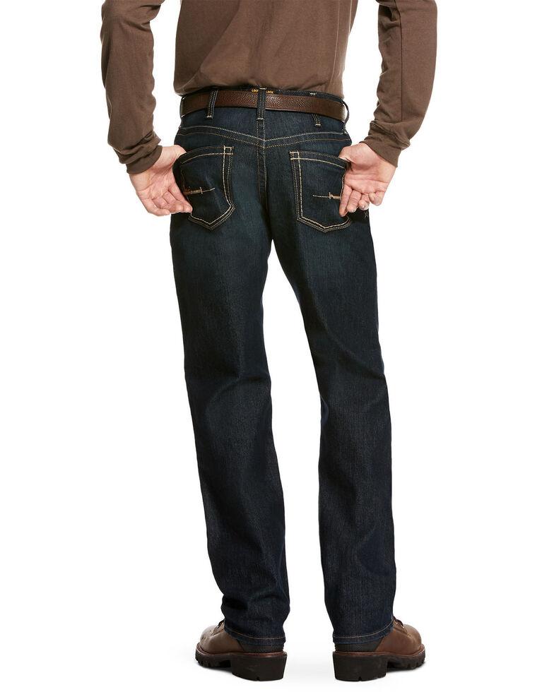 Ariat Men's Rebar M4 Cobalt Durastretch Edge Stackable Straight Work Jeans , Blue, hi-res
