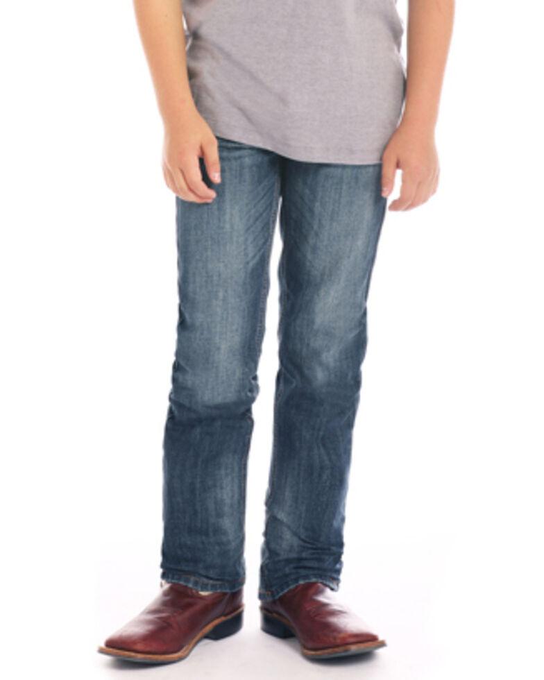 Rock & Roll Denim Boys' Double V Stitched Revolver Jeans , Blue, hi-res