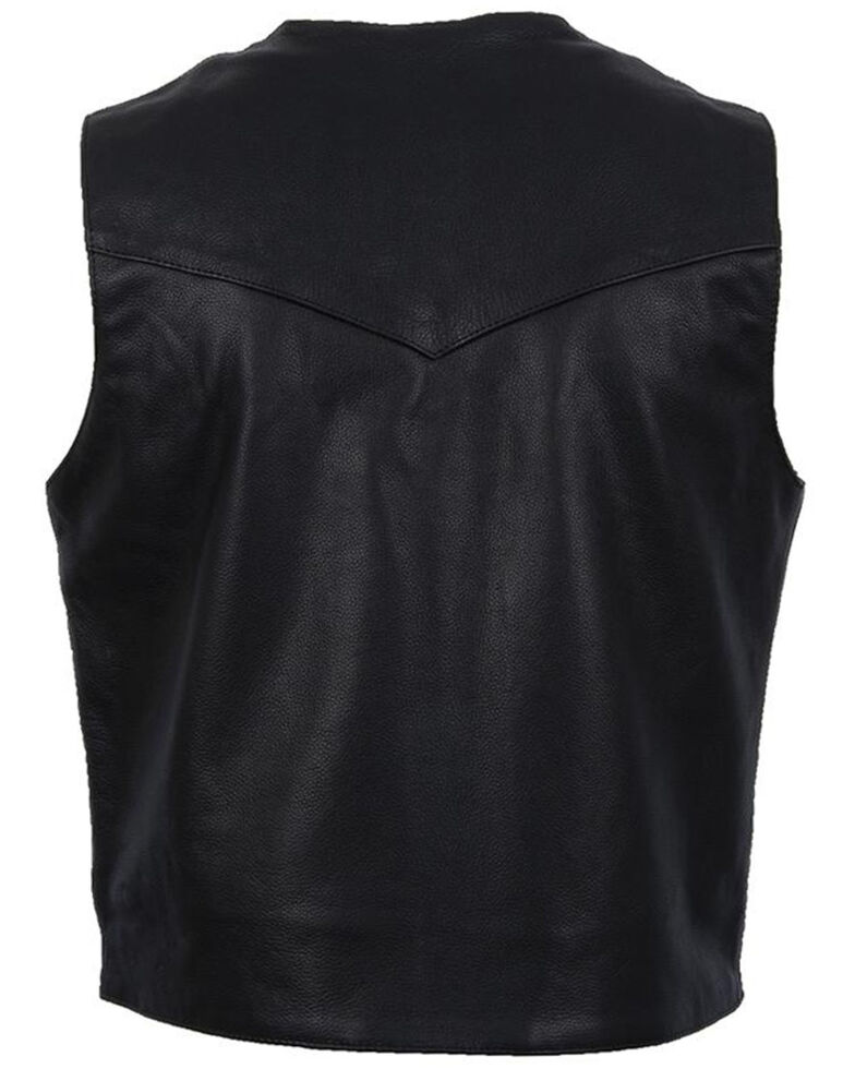 STS Ranchwear Men's Black Chisum Vest , Black, hi-res
