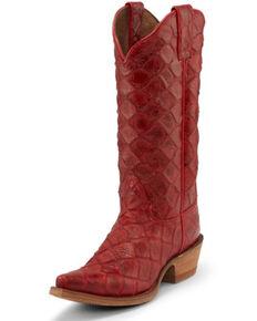 Nocona Women's Bessie Western Boots - Snip Toe, Red, hi-res