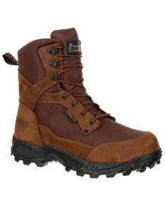 Rocky Men's Ridgetop Waterproof Outdoor Boots - Round Toe, Brown, hi-res
