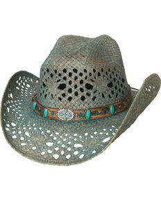 dab778cd865 Bullhide Women s Turquoise Temptations Cowgirl Hat