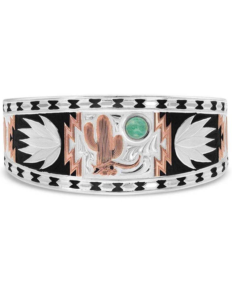 Montana Silversmiths Women's Desert Serenade Cactus Cuff Bracelet, Silver, hi-res