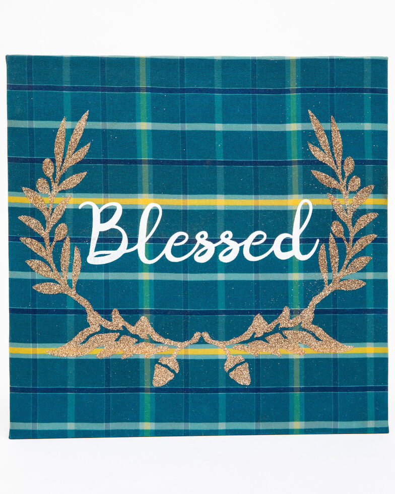 Boot Barn Ranch Blessed Wall Art, Teal, hi-res