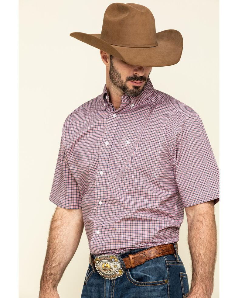 Ariat Men's Sherwood Stretch Small Plaid Short Sleeve Western Shirt - Big, Multi, hi-res