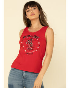 Idyllwind Women's Ride or Die Twisted Tank Top, Red, hi-res
