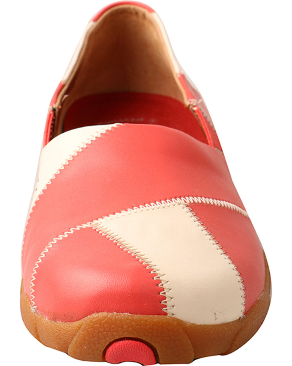 Twisted X Women's Slip On Driving Moccasins, Coral, hi-res